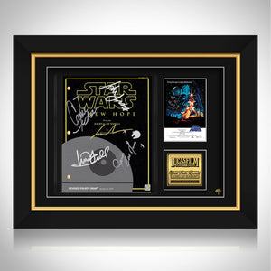Star Wars A New Hope Script Limited Signature Edition Studio Licensed Custom Frame
