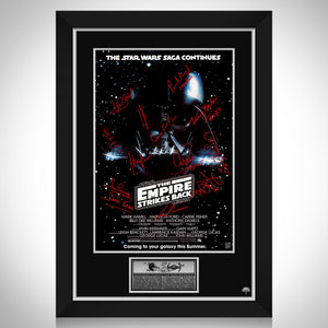 Star Wars Empire Strikes Back Mini Poster Limited Signature Edition Studio Licensed Custom Frame