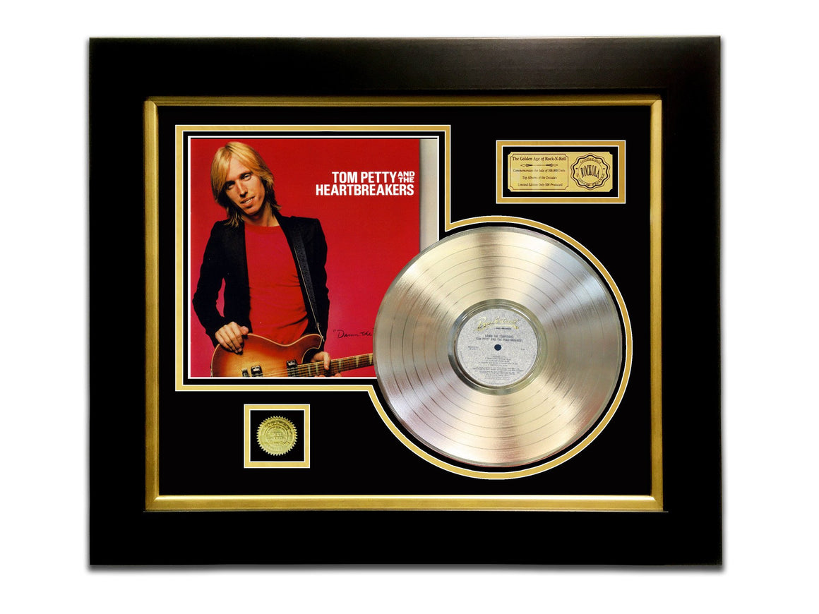 LIMITED EDITION GOLD LP 'TOM PETTY & THE HEARTBREAKER - DAMN THE TORPEDOES' CUSTOM FRAME