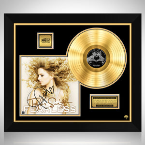 Taylor Swift Fearless Gold LP Limited Signature Edition Studio Licensed Custom Frame