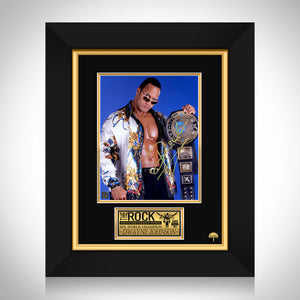 The Rock Dwayne Johnson WWE Photo Frame Limited Signature Edition Studio Licensed Custom Frame