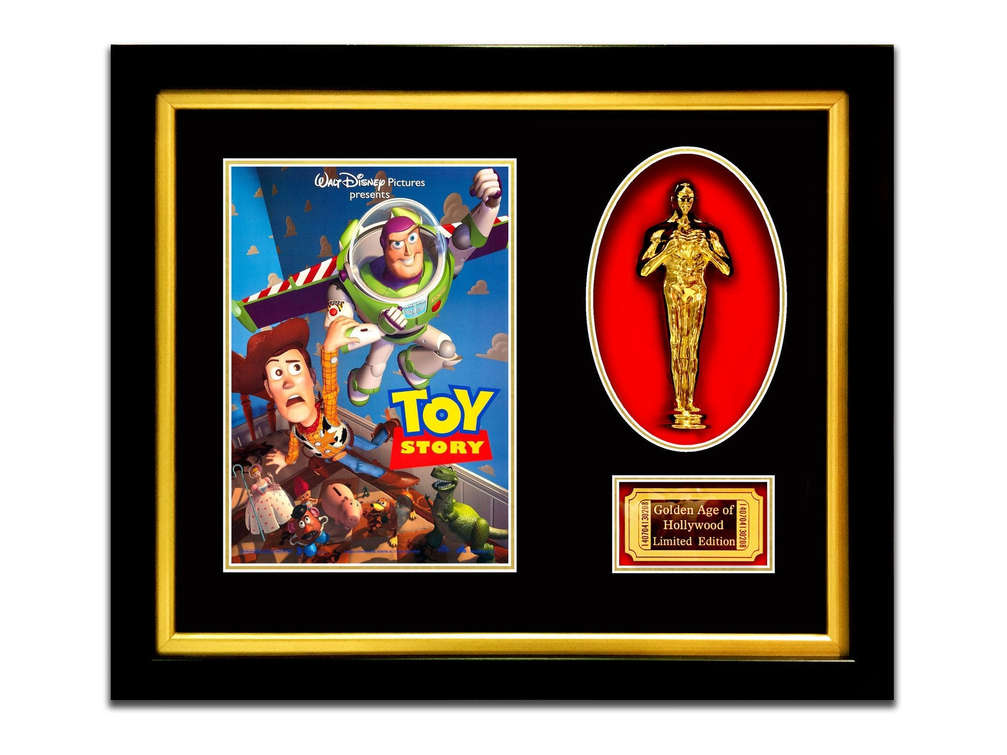LIMITED EDITION \'TOY STORY - GOLD OSCAR\' CUSTOM FRAME - RARE-T