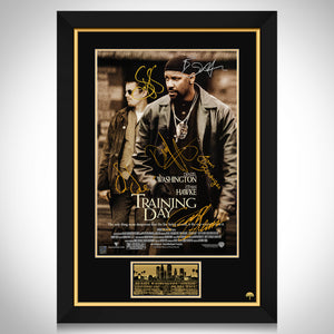 Training Day Movie Mini Poster Limited Signature Edition Studio Licensed Custom Frame