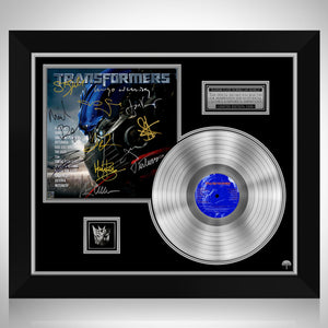 Transformers Soundtrack Platinum LP Limited Signature Edition Studio Licensed Custom Frame