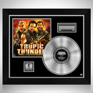 Tropic Thunder - Original Motion Picture Soundtrack Platinum LP Limited Signature Edition Studio Licensed Custom Frame
