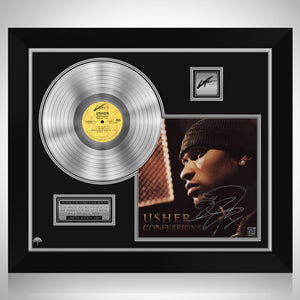 Usher - Confessions Platinum LP Limited Signature Edition Studio Licensed Custom Frame