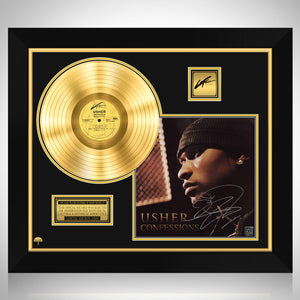 Usher - Confessions Gold LP Limited Signature Edition Studio Licensed Custom Frame