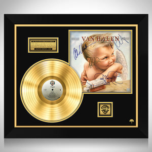Van Halen 1984 Gold LP Limited Signature Edition Studio Licensed Gold LP Custom Frame