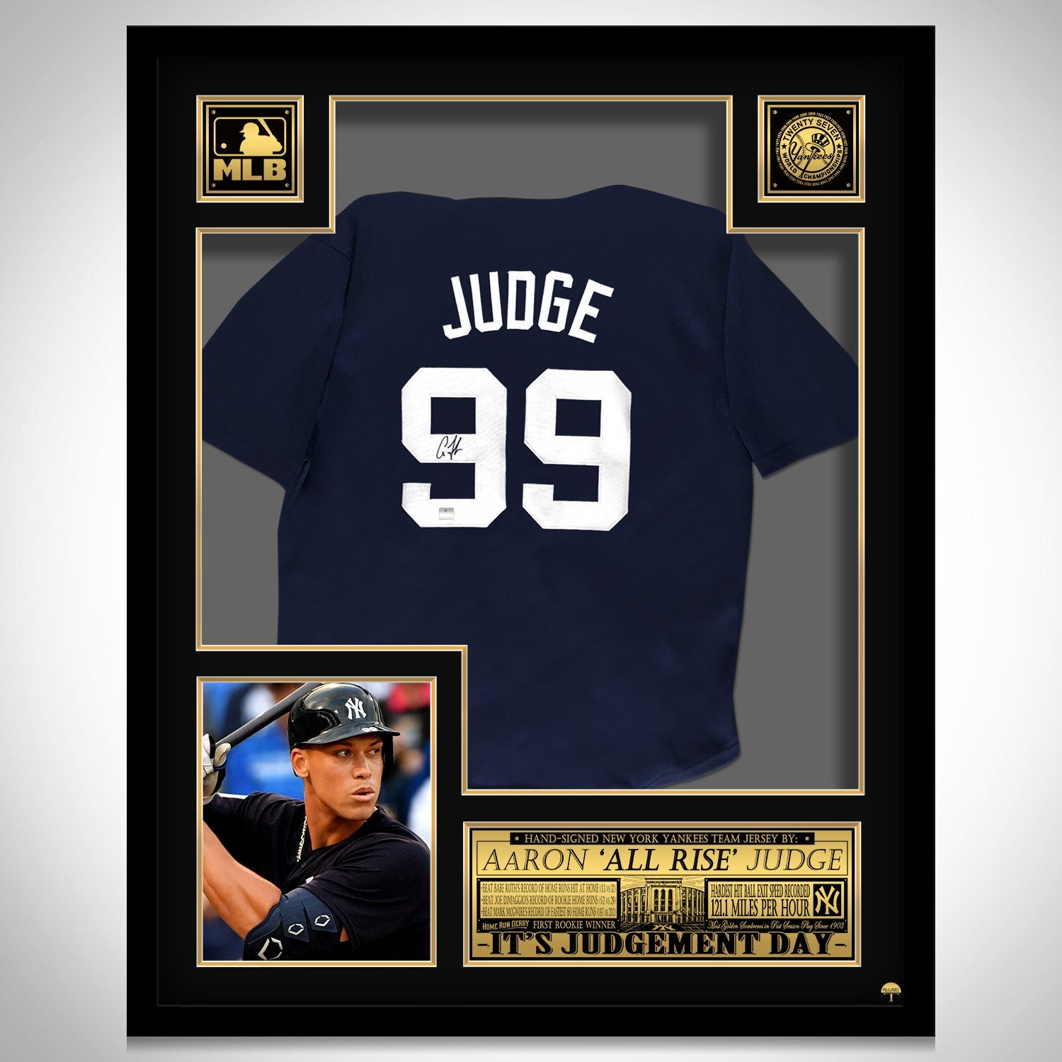 sports shoes 3d048 dfe77 Aaron Judge- Hand-Signed New York Yankees Dark Blue Jersey by Aaron Judge