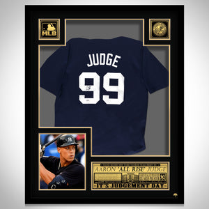 Aaron Judge- Hand-Signed New York Yankees Dark Blue Jersey by Aaron Judge