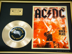 RARE-T Exclusive Limited Edition GOLD 45 'AC/DC - LIVE AT THE RIVER PLATE