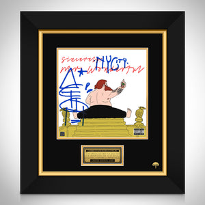 Action Bronson - Mr. Wonderful Limited Signature Edition Studio Licensed LP Cover Custom Frame