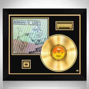 Aerosmith 'Live Bootleg' Limited Signature Edition Studio Licensed Gold LP Custom Frame