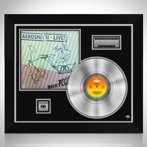 Aerosmith 'Live Bootleg' Limited Signature Edition Studio Licensed Platinum LP Custom Frame