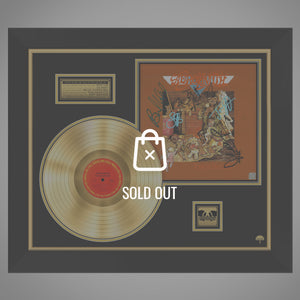 Aerosmith 'Toys in the Attic' Hand-Signed 24K Gold Plated LP by Band Members Custom Frame