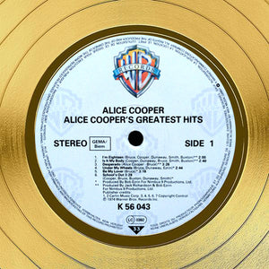 Alice Cooper Greatest Hits Limited Signature Edition Studio Licensed Gold LP Custom Frame