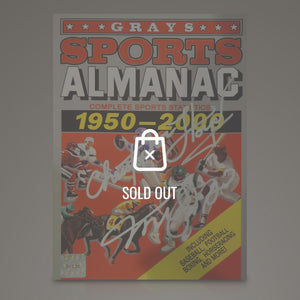 Back To The Future - Michael J Fox & Christopher Lloyd  Hand-Signed Grays Sports Almanac Prop