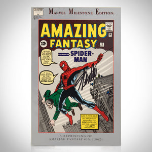 Spider-Man- Amazing Fantasy #15 Hand-Signed Comic Book By Stan Lee Custom Frame