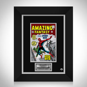 Amazing Fantasy #15 - Stan Lee Limited Signature Edition Licensed Comic Book Cover Art Custom Frame