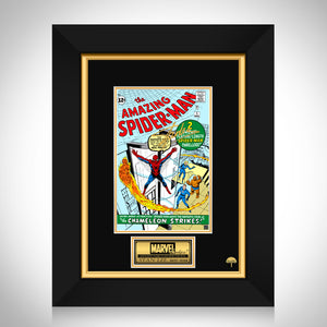 The Amazing Spider-Man #1 - Stan Lee Limited Signature Edition Licensed Comic Book Cover Art Custom Frame