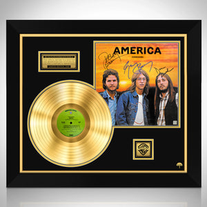 America Homecoming Limited Signature Edition Studio Licensed Gold LP Custom Frame