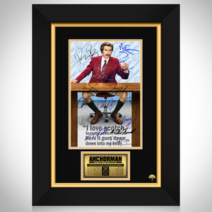 Anchorman Movie Mini Poster Limited Signature Edition Studio Licensed Custom Frame