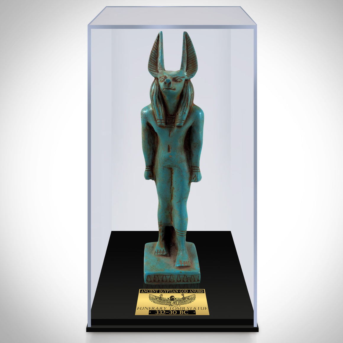 Authentic Anubis Painted Tomb Statue Museum Display