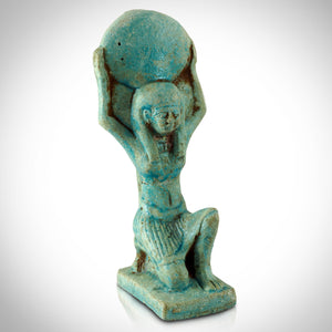 Authentic Goddess Isis Faience Tomb Statue Museum Display