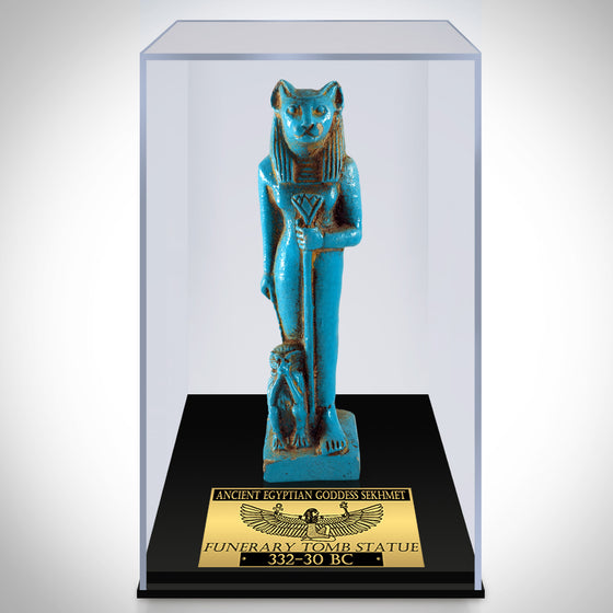 Authentic Sekhmet Faience Tomb Statue Museum Display