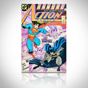 BATMAN VS SUPERMAN ACTION ANNUAL #1 - HANDSIGNED BY ART ADAMS Comic Book