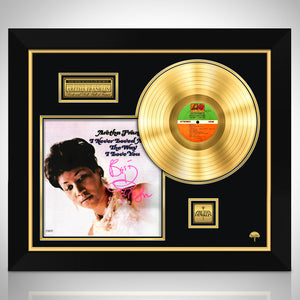 Aretha Franklin 'I Never Loved A Man The Way I Love You' Hand-Signed Gold LP Custom Frame