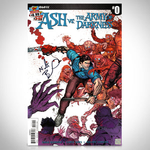 Ash Vs The Army of Darkness #0 25th Anniversary Hand-Signed Comic Book by Artist Nick Bradshaw