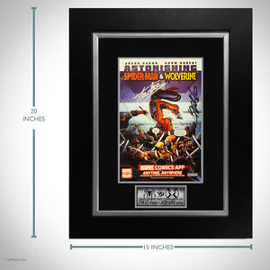 Astonishing Spider-Man & Wolverine #1 - Hand-Signed by Jason Aaron & Stan Lee Comic Book Custom Frame