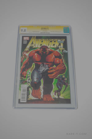 Cgc Signature Edition 'Avengers #7 Red Hulk -9.8 Handsigned By Stan Lee'