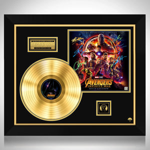 Avengers Infinity War Movie Soundtrack Limited Signature Edition Gold LP Custom Frame