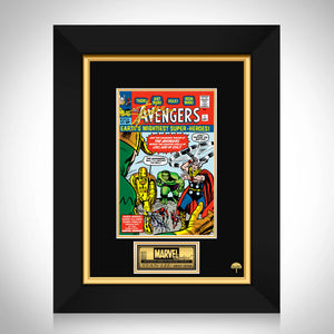 The Avengers #1 Stan Lee Limited Signature Edition Comic Book Cover Art Custom Frame