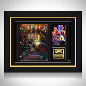 Avengers Endgame Script Limited Signature Edition Studio Licensed Custom Frame