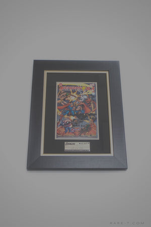 Rare-T Exclusive '#2 Avengers Vs Justice League Comic Book - Signed By Stan Lee' Custom Frame