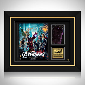 The Avengers Script Limited Signature Edition Studio Licensed Custom Frame