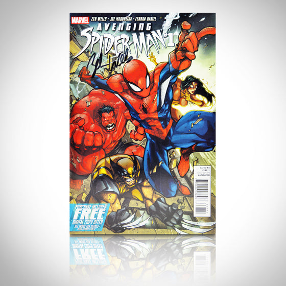 'AVENGING SPIDERMAN #1 - HANDSIGNED BY ZEB WELLS' Comic Book