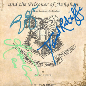 Harry Potter The Prisoner of Azkaban Script Limited Signature Edition Studio Licensed Custom Frame