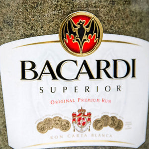 Bacardi Liquor- Original Liquor Bottle Lamps