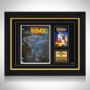 Back To The Future Script Limited Signature Edition Studio Licensed Custom Frame