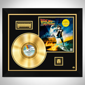 Back to the Future Movie Soundtrack Limited Signature Edition Studio Licensed Gold LP Custom Frame