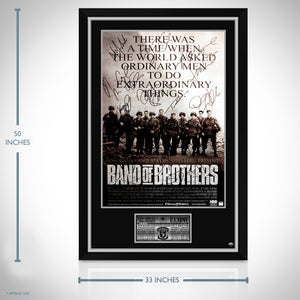 Band Of Brothers- Cast Hand-Signed Poster Custom Frame