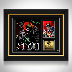 Batman the Animated Series Script Limited Signature Edition Studio Licensed Custom Frame