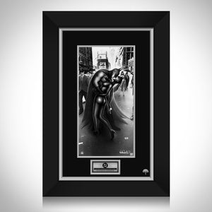 Batman & Catwoman 'Kiss' Hand-Signed Artwork Print By Artist Nathan Szerdy Custom Frame