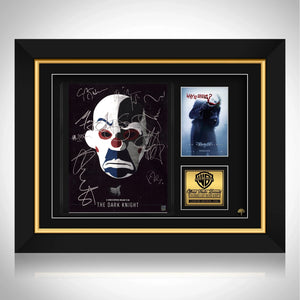 The Dark Knight Movie Script Limited Signature Edition Studio Licensed Custom Frame