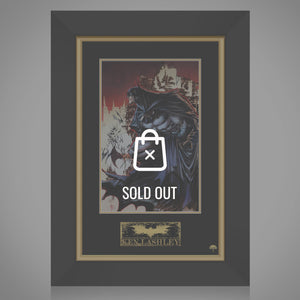 Batman- Hand-Signed Artwork By Artist Ken Lashley Custom Frame