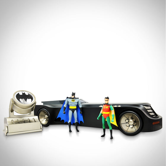 'DC - BATMAN ANIMATED SERIES - BAT LIGHT & BATMOBILE' Figurine